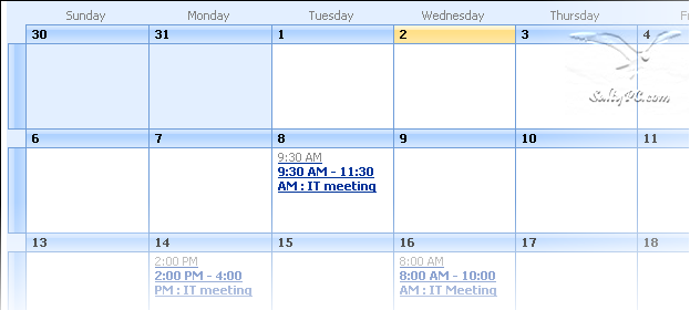 Show Start and End time on a SharePoint calendar | Big